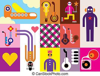 Music Festival - abstract vector illustration