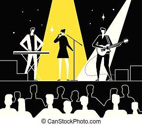 Music festival - flat design style vector illustration
