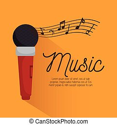 music festival instrument poster microphone