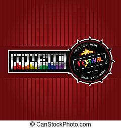 Music Festival Labels, Vector illustration
