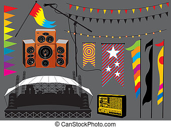 Music festival set, image is part of my music collection.