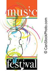 Music festival. Vector illustration