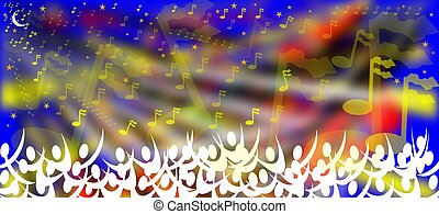 concert beneath the stars - music fills the air at the...