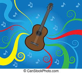 Music Flowing Guitar