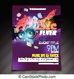 music flyer brochure poster template design