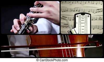 Music for oboe and cello, montage
