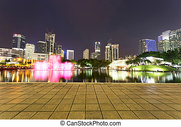 music fountain  in the square of KL