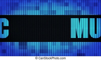 Music Front Text Scrolling LED Wall Pannel Display Sign...