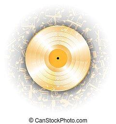 music gold vinyl record
