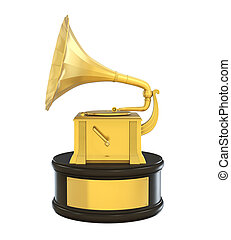 Music Gramophone Trophy Award Isolated
