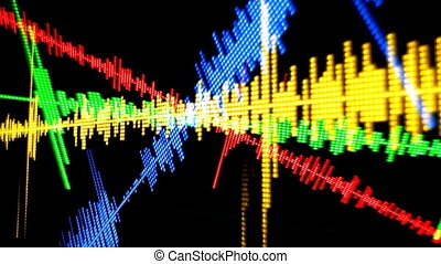 music graphic equalisers and audio analysis clip,