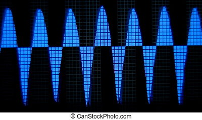 music graphic equalisers and audio analysis clip, (could...