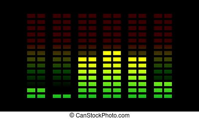 music graphic equalisers and audio analysis clip