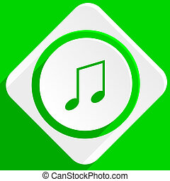 music green flat icon