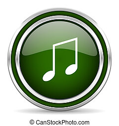 music green glossy web icon