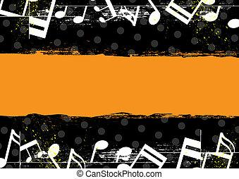 music grunge banner design