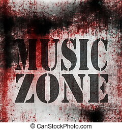 music grungy wall background