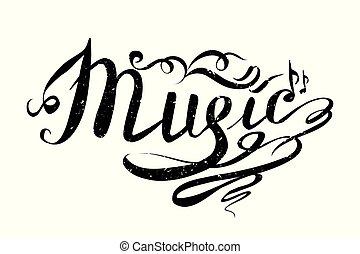Music Hand drawn vector illustration