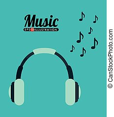 music headphones design, vector illustration eps10 graphic