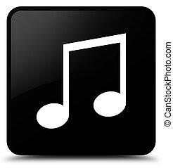Music icon black square button
