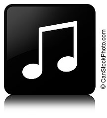 Music icon black square button