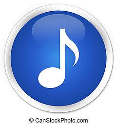 Music icon blue button