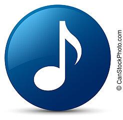 Music icon blue round button