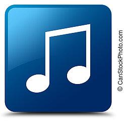 Music icon blue square button