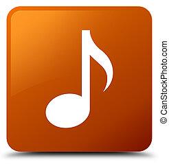 Music icon brown square button