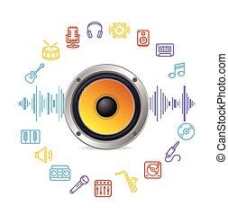 Music Icon Concept. Vector
