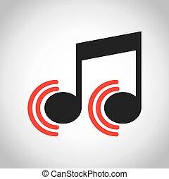 music icon design, vector illustration eps10 graphic