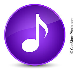 Music icon elegant purple round button