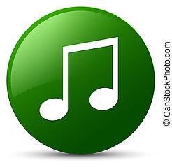 Music icon green round button
