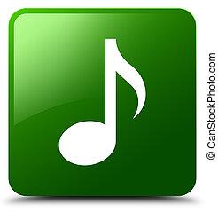 Music icon green square button