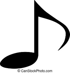 music icon isolated on background
