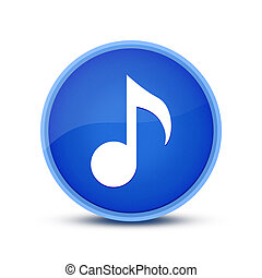 Music icon isolated on special blue round button abstract