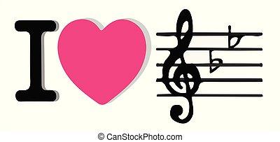 music icon on white background