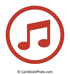Music Icon on white background.