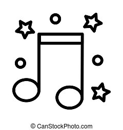 Music icon on white background, vector illustration