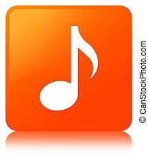 Music icon orange square button