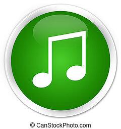 Music icon premium green round button