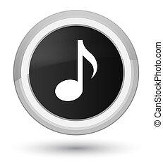 Music icon prime black round button