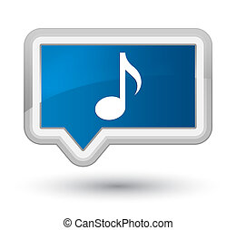 Music icon prime blue banner button