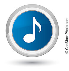 Music icon prime blue round button