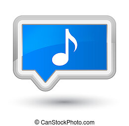 Music icon prime cyan blue banner button