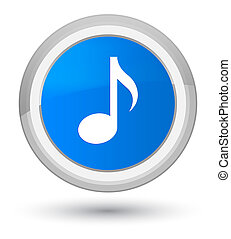 Music icon prime cyan blue round button