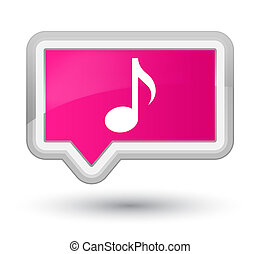 Music icon prime pink banner button