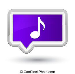 Music icon prime purple banner button