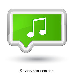 Music icon prime soft green banner button
