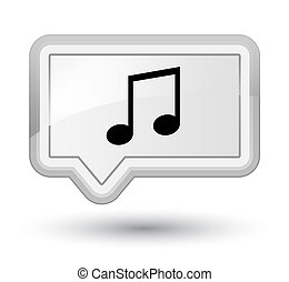 Music icon prime white banner button